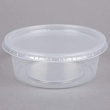 54fc0e707b86 Amazon.com: BWS 32 oz Microwavable Translucent Round Craft Food Meal ...