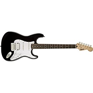 Squier Bullet Stratocaster Tremolo HSS Electric Guitar – Black