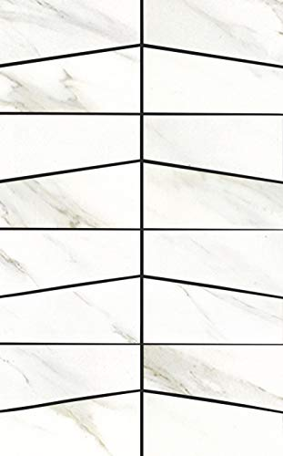 Cararra White Porcelain Tile Mosaic| Kitchen Backsplash Idea Bath Shower Wall Decor Art Mosaics, 1 Sample 12'' X 8'', MP32B-R2-FBA-1