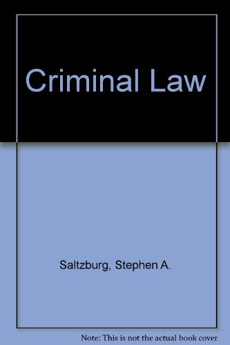 Criminal Law: Cases and Materials, 2nd Edition
