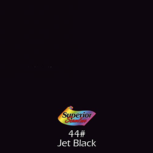 Superior Seamless Photography Background Paper, Photo Backdrop Paper 53 Wide x 16 #44 Jet Black (101344C)