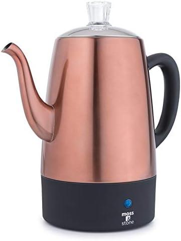 Moss Stone Electric Coffee Percolator Copper Body