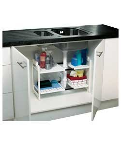 Great Value Adjustable Under Sink Storage Unit - White