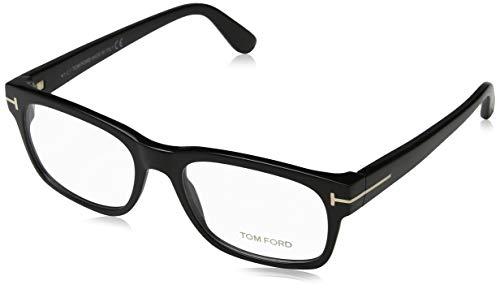 Tom Ford Men's Eyeglasses TF5432 TF/5432 001 Shiny Black/Gold Optical Frame 54mm ()
