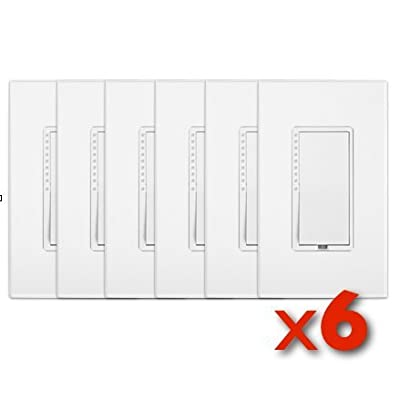 Insteon 2477D SwitchLinc INSTEON Remote Control Dual-Band Dimmer, White 6 PACK