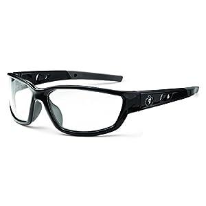 Skullerz Kvasir Safety Glasses - Black Frame, Clear Lens