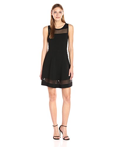 Crepe Black Women's Tobey Connection Knits French Dress Sv4BxY