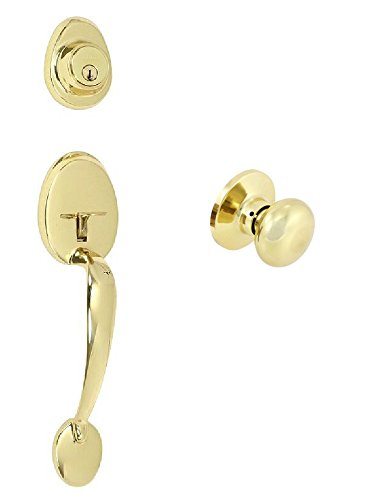 EZ-Set 2409164 Mayfair Dummy Handleset by EZ-Set with Olympus Knob, Polished (Imperial Dummy Set Handleset)