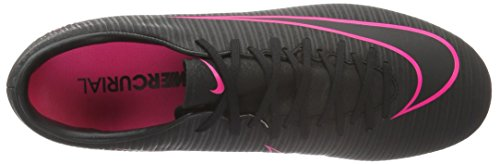 Nike Herren Mercurial Victory VI FG Fußballschuhe Schwarz (Schwarz/Schwarz/Pink)