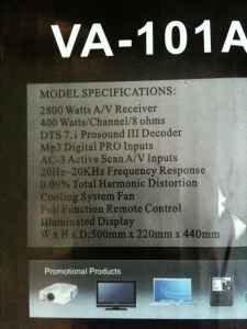 Find a Palermo VA6.1 1000 watt Home Theater System