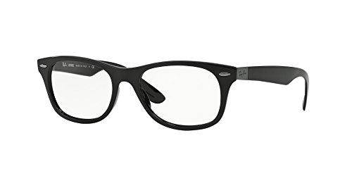 Ray-Ban Wayfarer Eyeglasses RX7032-5206 Black Frame, Clear Demo Lenses, Size: - Wayfarer Black Clear Ray And Ban