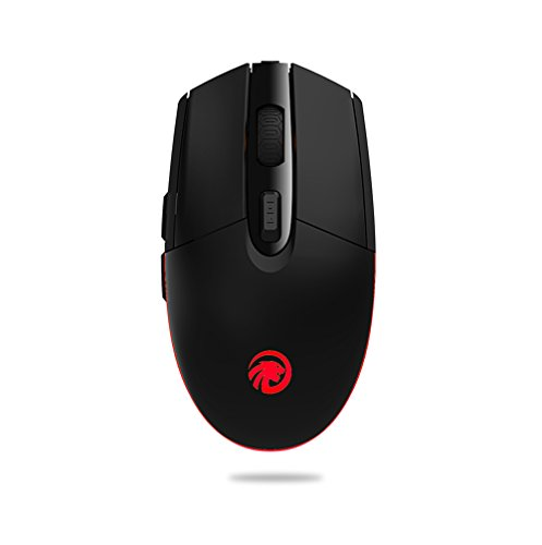 Wireless Mouse,Attoe 2.4G Ergonomic Gaming Mouse 800-1200-1600DPI Optic Mouse with Colourful LED Breathing Light,Silent for PC Laptop Notebook Windows Use (Black) by Attoe