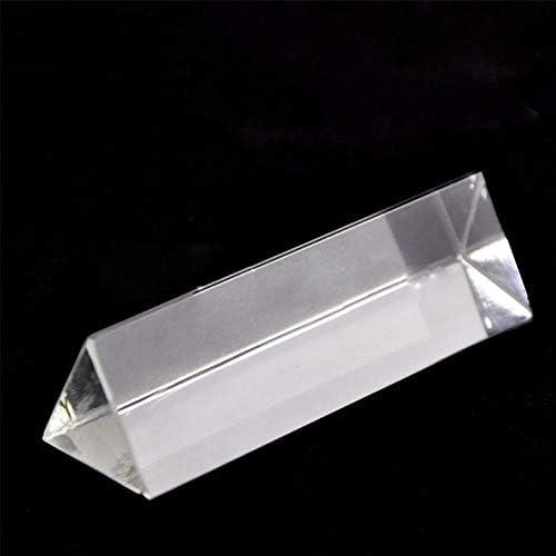Uokoki Herramientas educativas física óptica de Cristal Triangular Prisma Escuela de educación la enseñanza