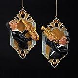 Kurt Adler Deco & Diamonds Jazz Musician Ornaments (set of 2 Assorted)