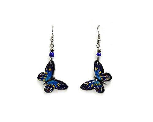 Butterfly Earrings (Blue/Turquoise) (Acrylic Butterfly Earrings)
