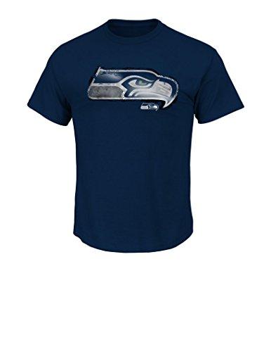 NFL Seattle Seahawks Men's UVC Tee, Navy, Medium