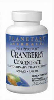Planetary Herbals Full Spectrum Cranberry Concentrate 560 mg Tabs, 90 (Planetary Herbals Cranberry)