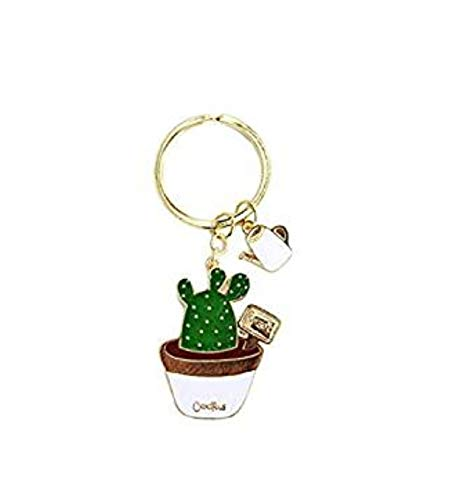 Sixlus Cactus Keychain Planta Keychain aleación de cinc Drip ...