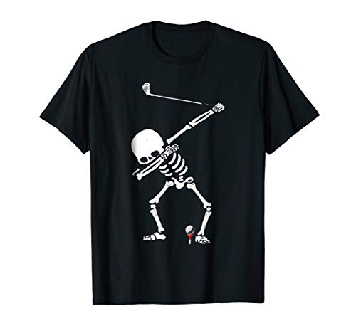 Cart Brassie (Dabbing Golf Skeleton! Funny Golfer T-Shirt)