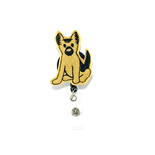German Shepherd Retractable Badge Reel