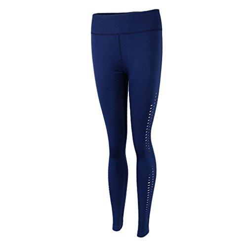 Homyl Pantalones de Mujer Deportes Entrenamiento Gimnasio Atlético Fitness Yoga Ropa Disfraz Tropical Ropa Cómoda azul marino cyan
