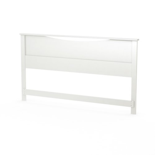 (South Shore Step One Headboard, King 78-Inch, Pure White)