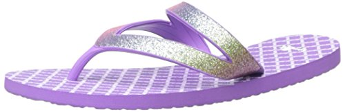 Sanuk Kids Lil Selene Crystal Flip Flop (Toddler/Little Kid/Big Kid), Rainbow/Hot Orchid,  6/7 M US Big - Havianas For Kids