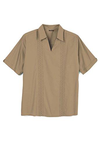 Island Short Sleeve Guayabera Popover