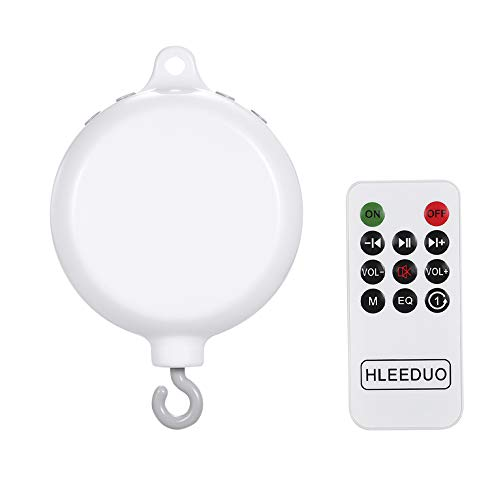 homese Rotary Baby Crib Bed Toy Musical Mobiles 35 Songs Music Box Remote Control Movement Bells for Kids with USB Line (Line Musical Box)