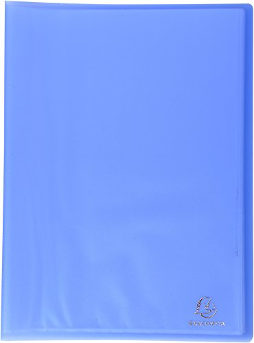Exacompta A4 Opauque PP Display Book, 10 Pockets, Blue