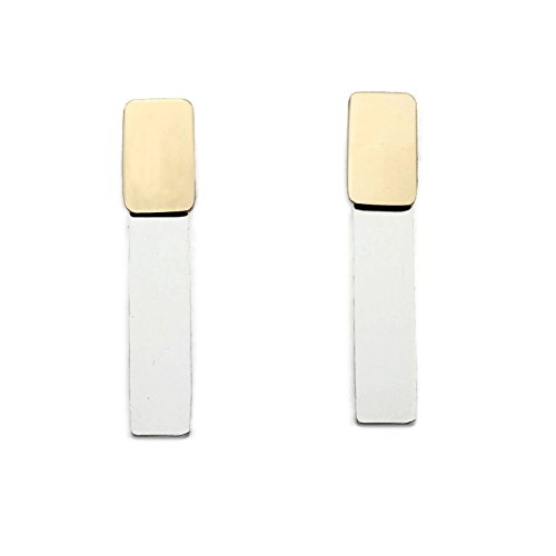 Mixed Metal Bar Ear Jacket (Smith 14k Ring)