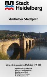 Amtlicher Stadtplan Heidelberg: Aktuelle Ausgabe Massstab 1:15000