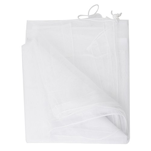 White Mosquito Net for Baby Double Carriage Stroller Pram Insect Netting by Generic
