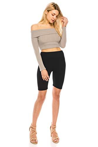 ALWAYS Bike Shorts Women Leggings - High Waisted Buttery Premium Soft Stretch Workout Yoga Running Gym Pants Black Plus Size (Bicycle Shorts Women)