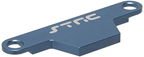 ST Racing Concepts ST3727AB CNC Machined Aluminum HD Battery Hold Down Plate (Rustler/Bandit) Blue ()