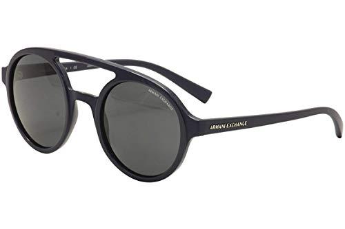 :Armani Exchange AX4060S - 821287 Sunglasses, Navy Blue Frame 50mm w/ Grey Lens