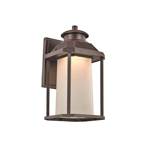 Trans Globe Lighting LED-40931 RT Southfield Outdoor Rust Mission/Craftsman Wall Lantern, 13.5''