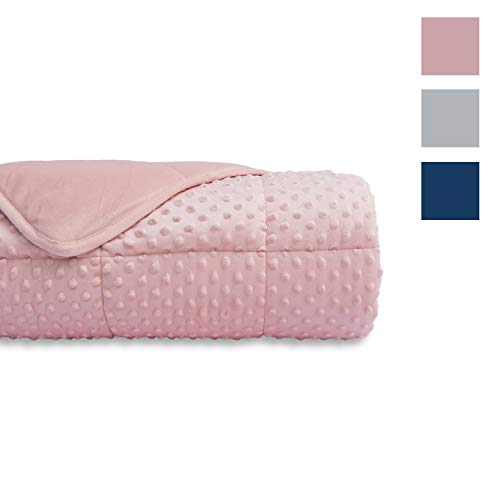 Cheap Weighted Blanket Premium Cotton Heavy Blanket with Glass Beads for Comfort Deep Sleep (Pink 40 x60 7lbs) Black Friday & Cyber Monday 2019