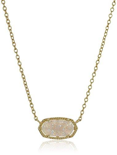 Kendra Scott Signature Elisa Gold plated Iridescent Druzy Pendant Necklace