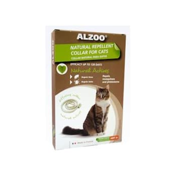 ALZOO Natural Repellent Flea & Tick Collar for Cats 1-oz box 1-count