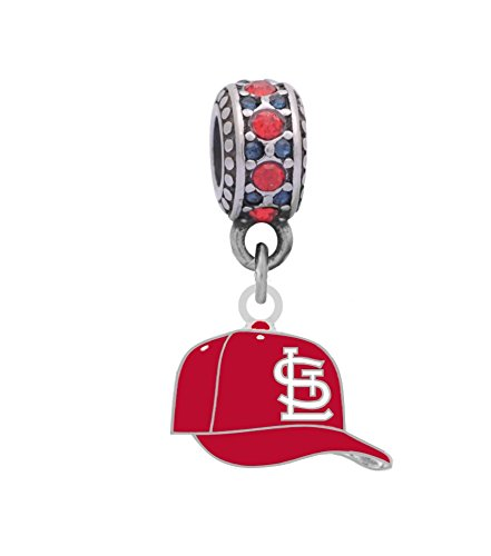 Cardinals Slide Louis (Final Touch Gifts St. Louis Cardinals Cap Charm Fits European Style Large Hole Bead Bracelets)
