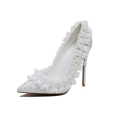 Personalizados Zapatos Traje 5 Cn35 Microfibra RTRY Flor Mujer Zapatos Boda De Primavera amp;Amp; US7 Ue36 5 De Noche Chica Uk3 Materiales Bomba Blanco De De Lace Básica 5 5 Us5 CN38 UK5 Otoño Boda EU38 HHz7wpq