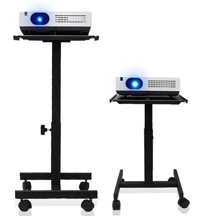 (Projector Holder Speaker Stand Trolley with Tray and 360 Degree Universal Wheel)