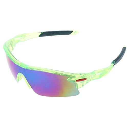 GaoCold Cycling Glasses UV400 Sunglasses Outdoor Sport Goggles Bicycle Eyewear for Men Women Green Frames & Green Lens