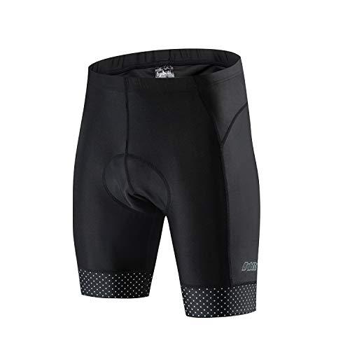Bpbtti Mens Gel Padded Bike Shorts (Large, Black/Reflex) ()