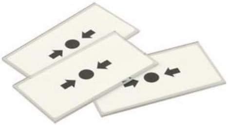 1 paquete de 5 cristales de repuesto para alarma de incendios