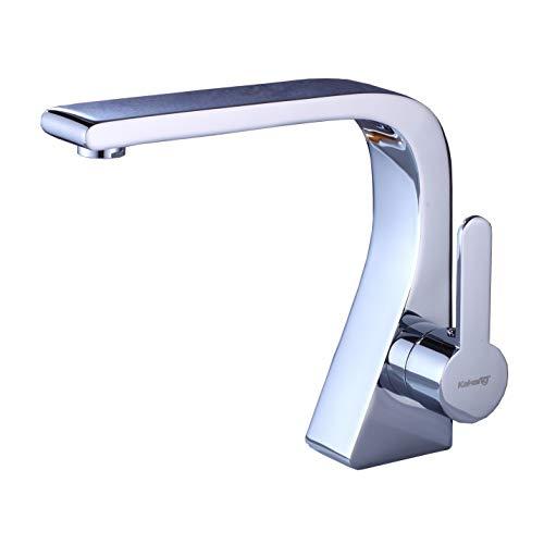 - Rozin Chrome Finish Bathroom Single Hole Basin Faucet Deck Mounted Vanity Sink Mixer Tap