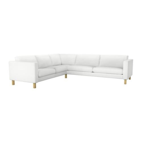 IKEA KARLSTAD - Sofá rinconera 2 + 3/3 + 2 cubierta, blanco ...