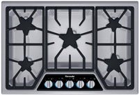 """Thermador Stainless Steel 30"""" Masterpiece Deluxe Gas Cooktop"""
