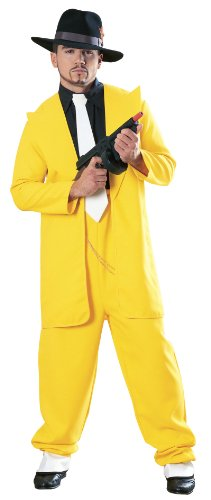 Yellow Zoot Suit Gangster Costume (Long Gangster Suit Costumes)